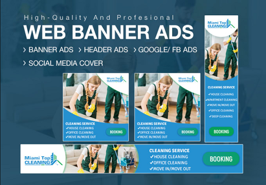 I will design social media ads and banners