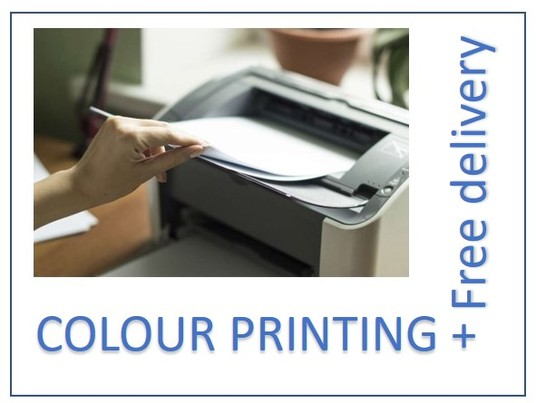 I will print upto 20 A4(210x297mm) colour pages  and post them to you for £5 (free deli