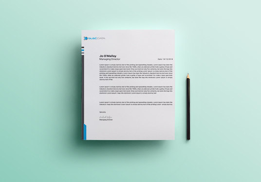 I will Create a Professional & Corporate  Letterhead Design