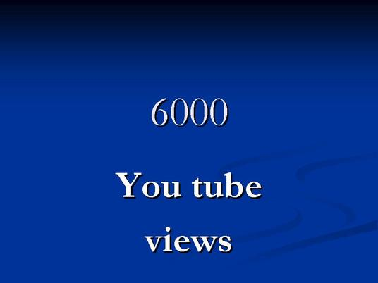 I will provide you 6000  you tube views