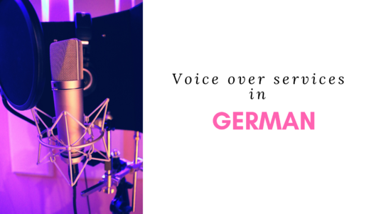 record a voice over in German