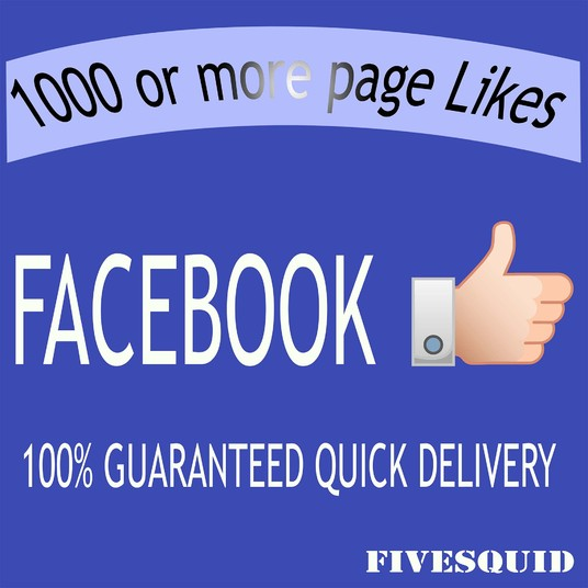 I will Add 1000 or more Real FACEBOOK Likes
