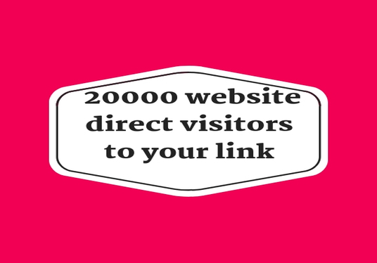 I will send 20000 website direct visitors  to your link