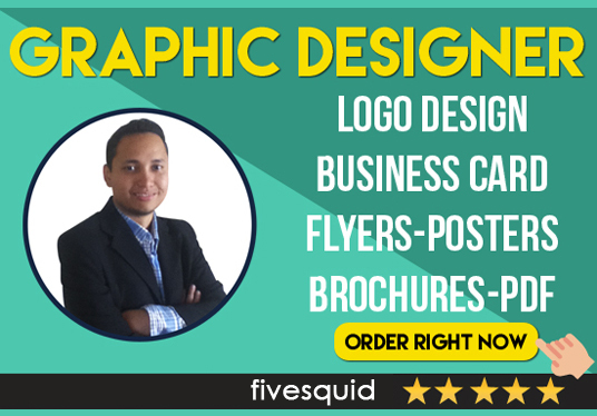 I will be your graphic designer