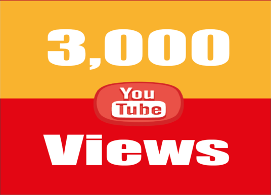 I will give 3,000 super high quality YouTube Views real and permanent