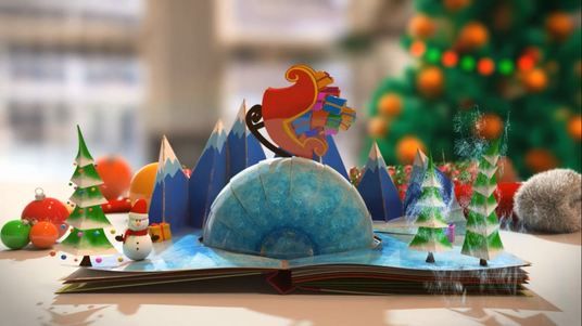 make 2 video 3D animated for christmas pop up book