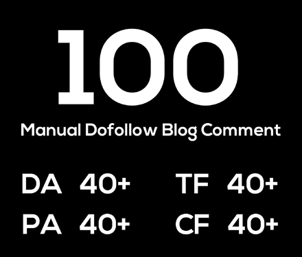 100 Manual Dofollow Blog Comment
