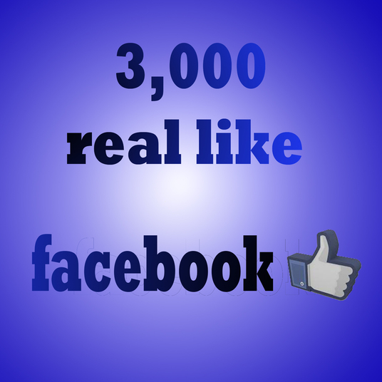 I will Provde 3000 real Facebook likes