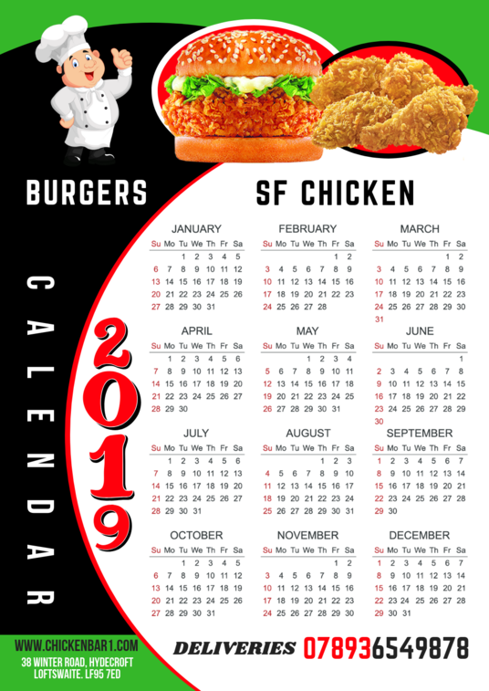 I will create a poster wall calendar for your business