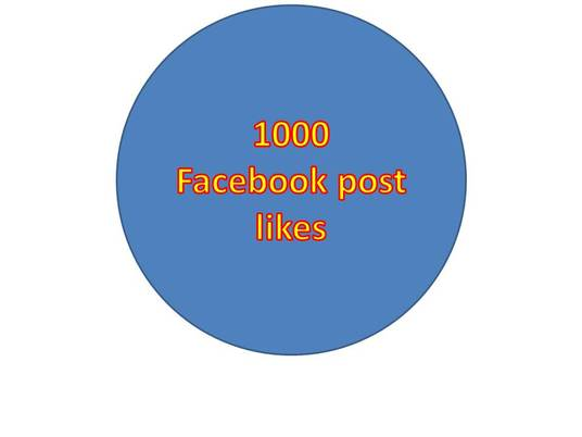 I will provide you 1000+ facebook post likes