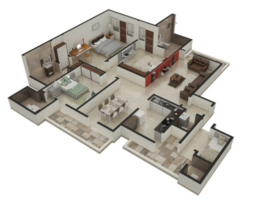 I will Design 2D and 3D Architectural and Layout Plan