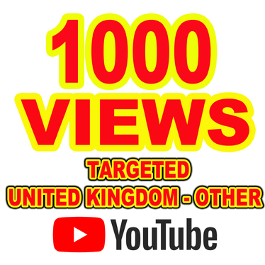 Give You 1000 YouTube Views Targeted - United Kingdom and Other