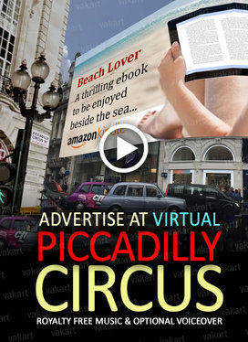 make a PICCADILLY CIRCUS Mock Up video with your message