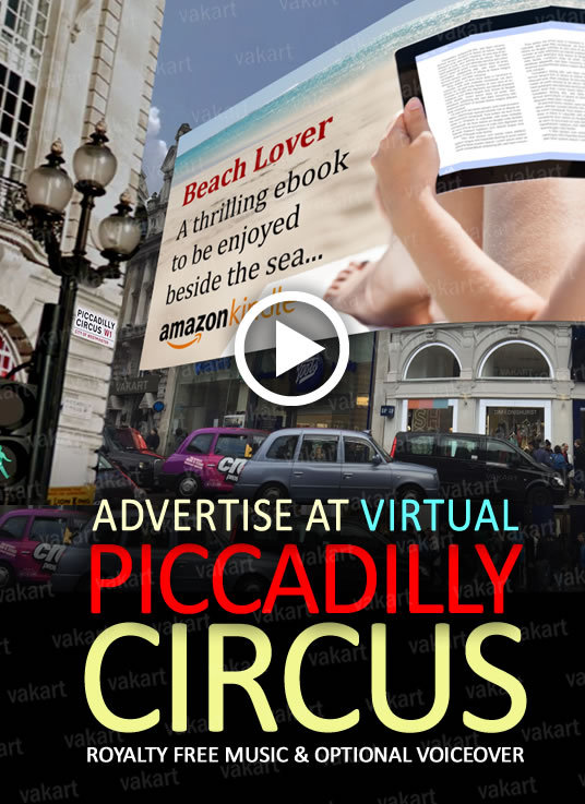 I will make a PICCADILLY CIRCUS Mock Up video with your message