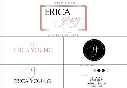 I will make a stunning watercolor signature logos with 3 to 4 different concept