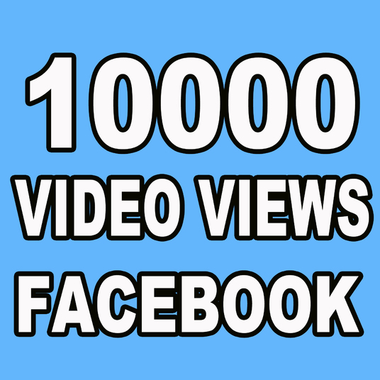 I will Provide 10000 Facebook Video Views