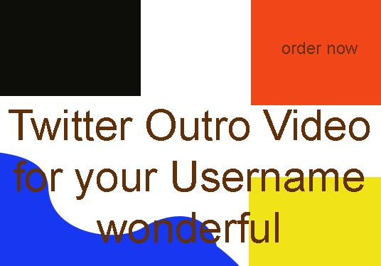 create twitter Video Outro for your username