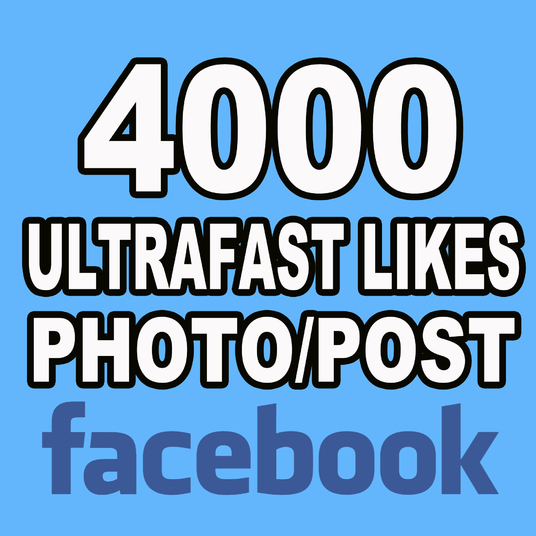 I will add 4000 Likes to your Photo or Post on Facebook