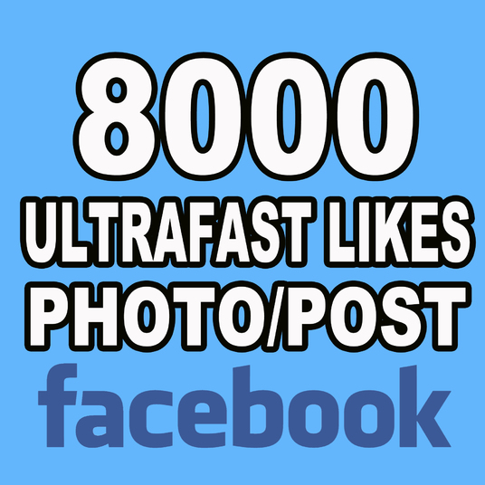 I will add 8000 Likes to your Photo or Post on Facebook