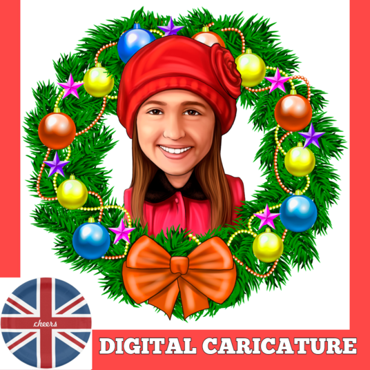 I will draw your  colored digital  caricature