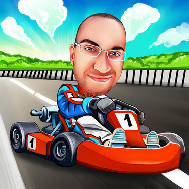draw your  colored digital  caricature