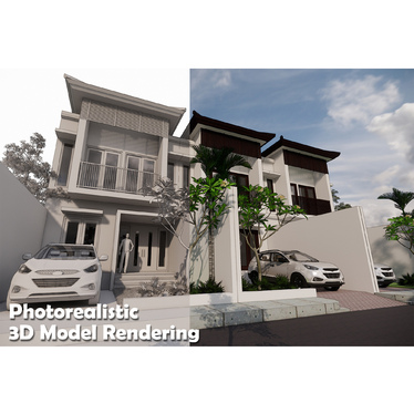 design and render 3d exteriors for your house, building