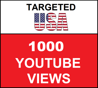 Added 1,000 USA Geo Targeted youtube video views