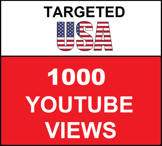 I will Added 1,000 USA Geo Targeted youtube video views