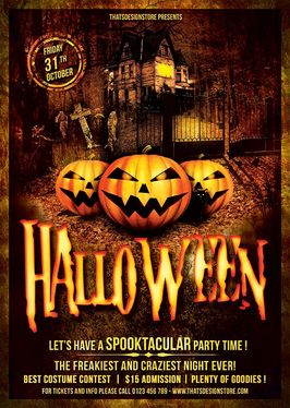 Create Halloween Party Flyer/Poster