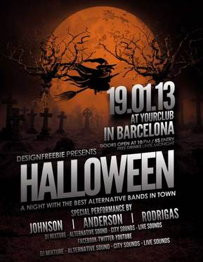 cccccc-Create Halloween Party Flyer/Poster