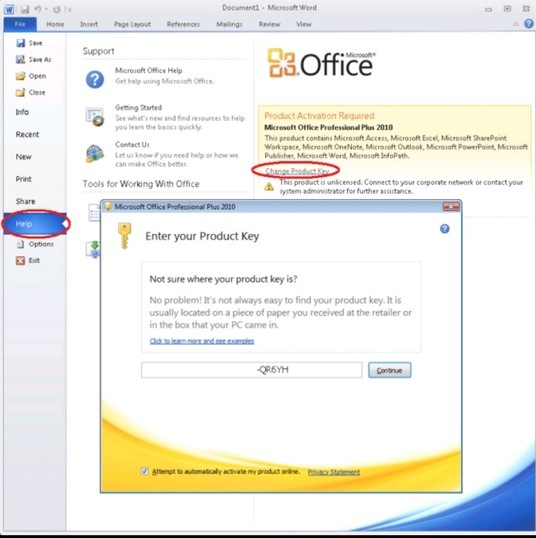 I will Install Microsoft Office 2010, 2013, 2016 with license key