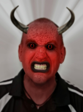 turn your pic into a Halloween zombie, demon or vampire