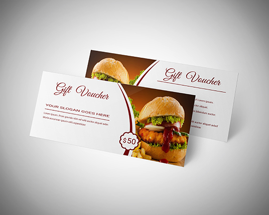 design awesome gift voucher gift certificate or coupons within 24