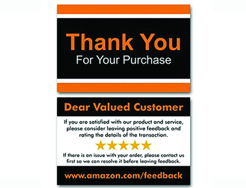 Design Eye Catching Amazon Thank You Card Insert Card For 10