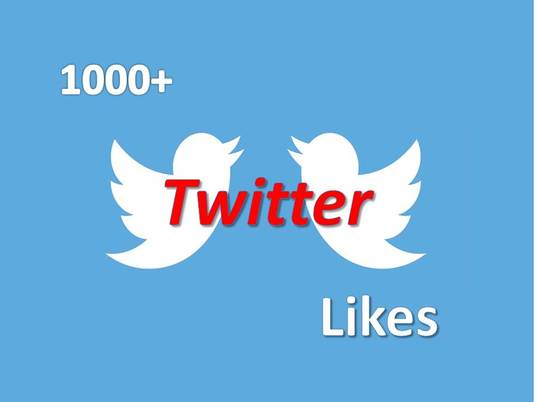 I will provide you 1000+ twitter likes