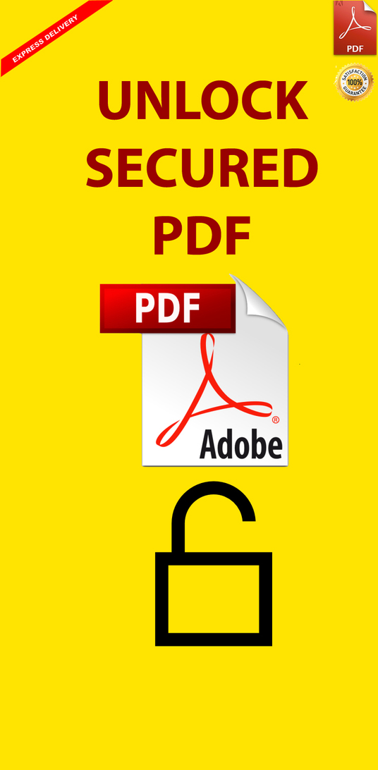 I will Edit Or Unlock Secured PDF Document