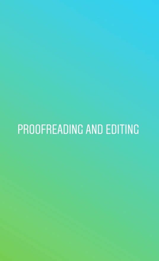 I will proofread and/or edit up to 1000 words in 1 day