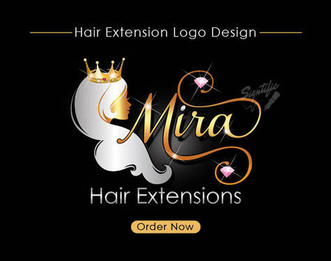 hair salon extensions beauty logos business crown gold designs collection silver fivesquid wig signtific virgin blings etsy graphic name branding