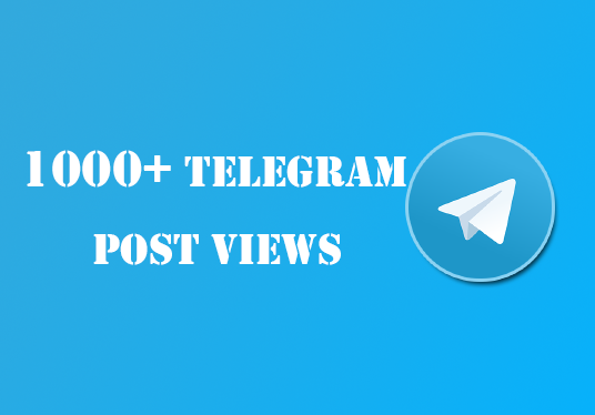 I will Provide You 1000 Telegram Post Views