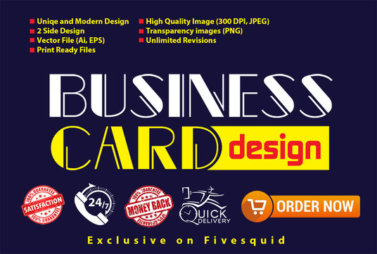I will Do Modern And Unique Business Card Design