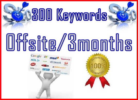 I will setup Offsite SEO  Importance | 3/mo | 300 Targeted Keywords