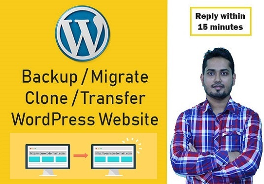 I will Move,Migrate Or Transfer Your Wordpress Site In One Hour