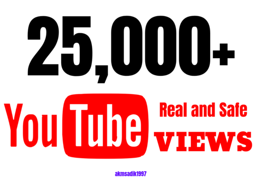 I will Provide 20,000+ YouTube Views