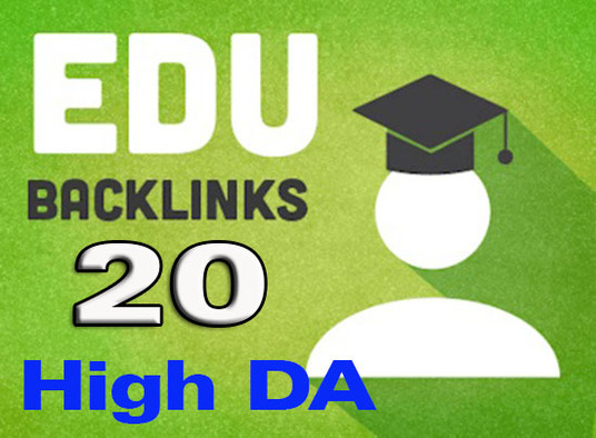 I will Do 20 EDU GOV High DA Backlinks just in 6 hour