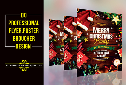I will do  professional flyer, Broucher, Poster design super fast
