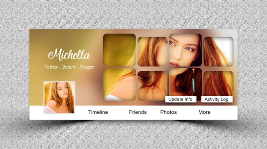 make beautiful facebook cover or any social media cover