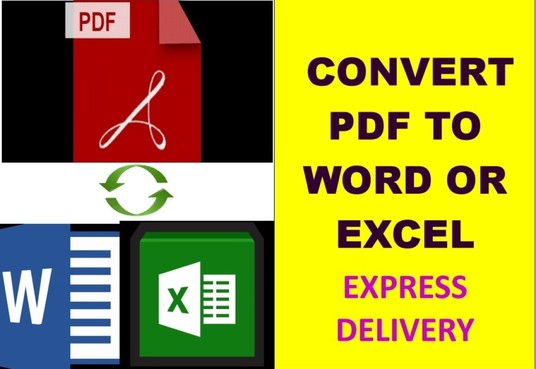 I will Convert PDF Documents to Ms Word