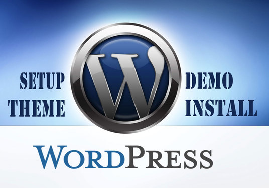 I will Install & Setup Wordpress & Wordpress Theme like its Demo