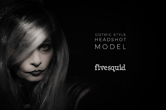 be a Halloween gothic style headshot model for your company, product or promo