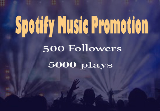 I will add 500 Spotify followers & 5000 Spotify Plays